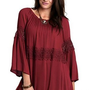 Lace Off the Shoulder Bell Sleeve Tunic