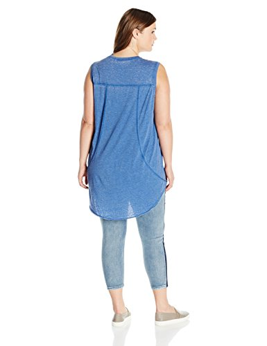Melissa McCarthy Seven7 Women's Plus Size Always You Tank, Monaco Blue, 3X