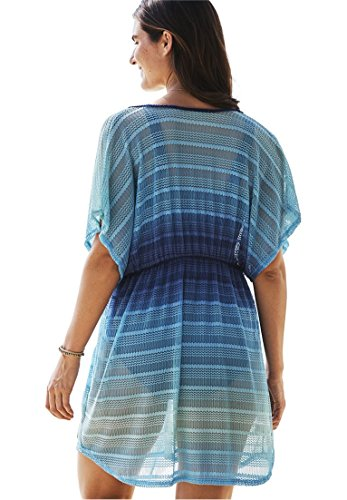 Woman Within Women's Plus Size Ombre Cover-Up Ultramarine Ombre,1X