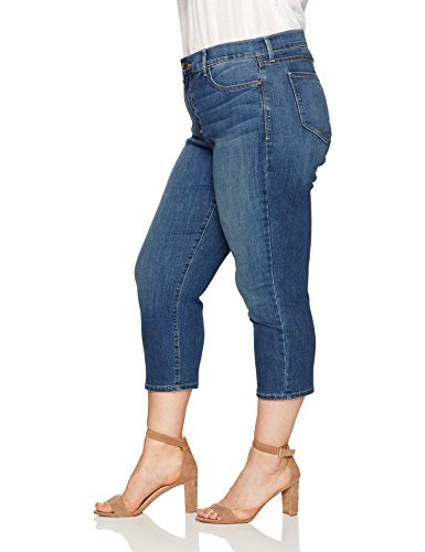 NYDJ Women's Plus Size Marilyn Relaxed Capri Jeans In Cool Embrace Denim, Zimbali, 20W