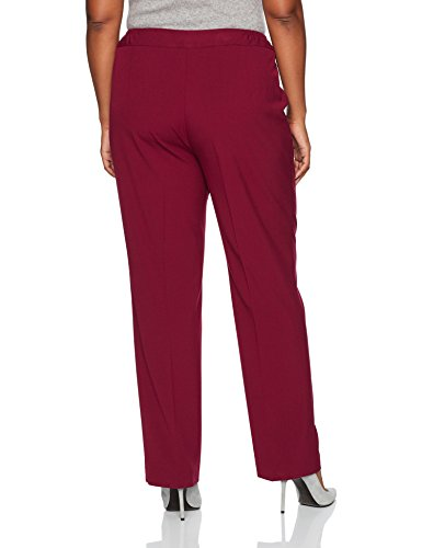 Nine West Women's Plus Size Bi Stretch Trouser Pant, Bordeaux, 14W