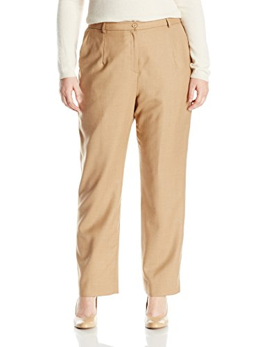Pendleton Women's Plus Size True Fit Trousers, Camel Mix Worsted Flannel, 18W