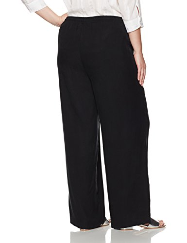Calvin Klein Women's Plus Size Tencel Drawstring Pant, Black, 22W