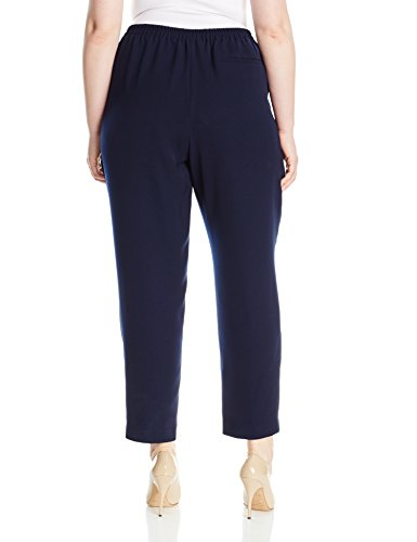 Nine West Women's Plus Size Crepe Pant, Navy, 16W