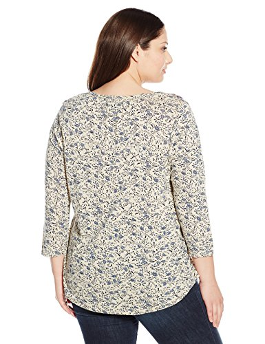 Lucky Brand Women's Plus Size Embroidered-Bib Top, Multi, 2X
