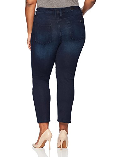 Seven7 Women's Plus Size Skinny Jean With Twisted seams and Slit Bottom, Jarrell, 14W
