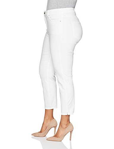 NYDJ Women's Plus Size Ami Skinny Ankle With Slit Clean, Optic White, 18W