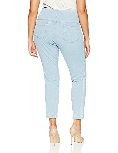 Lyssé Women's Plus Size toothpick Denim, Cashmere Blue, 3X