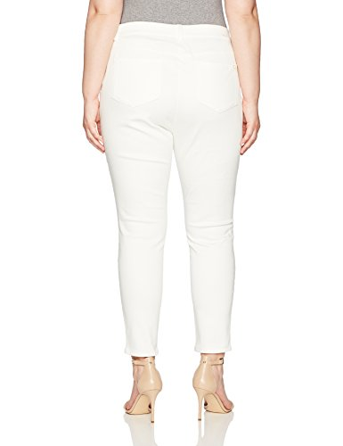 Calvin Klein Women's Plus Size Four Pocket Pant, Soft White, 18W