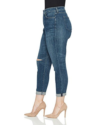 NYDJ Women's Plus Size Girlfriend Jeans, Newton With Knee Slit, 18W