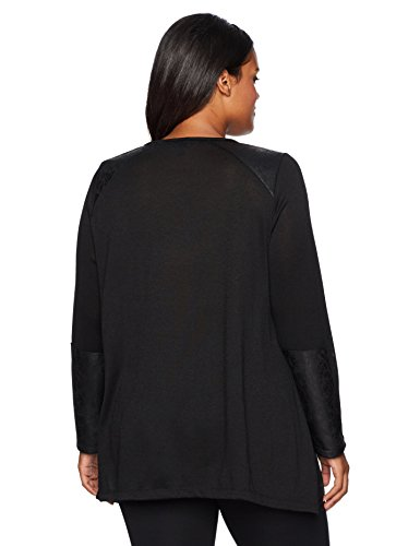 Jones New York Women's Plus Size L V' NK Version Of 1253 With Slv Patch, Black, 1X
