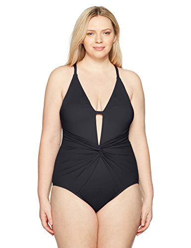 Plus Twist Front One Piece Swimsuit