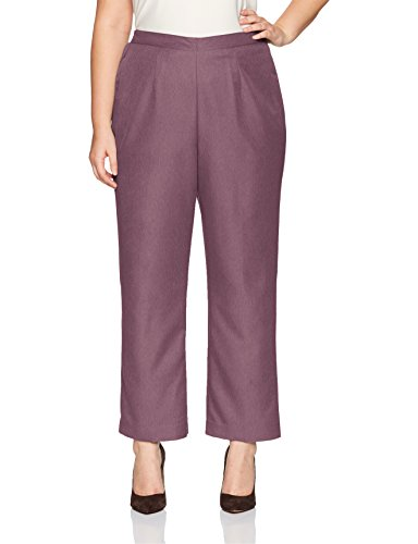 Alfred Dunner Women's Plus Size Med, Clean Front, Back Elastic, Wisteria, 18W
