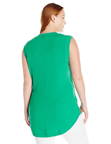 Melissa McCarthy Seven7 Women's Plus Size Survival Basic Tank Top, Emerald, 1X