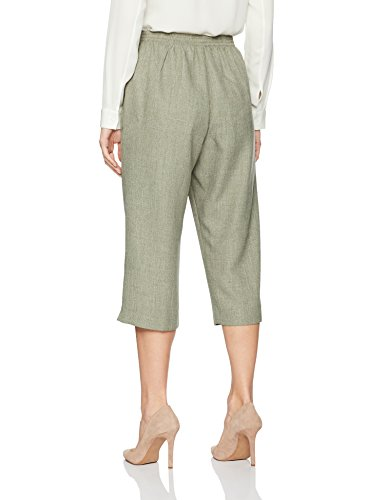 Alfred Dunner Women's Clean Front, Back Elastic, Slit Cuff, Sage, 16