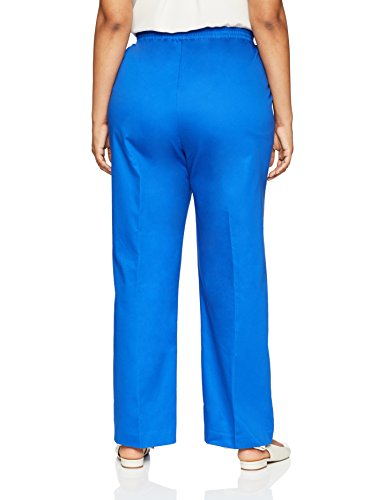 Alfred Dunner Women's Plus Size Proportioned Medium Pant, Cobalt, 22W