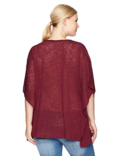 Jones New York Women's Plus Size Scoop NK Caftan W/Closed Sides, Black Currant, 3X