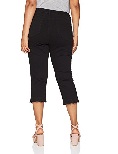 NYDJ Women's Plus Size Capri Released Hem, Black, 14W