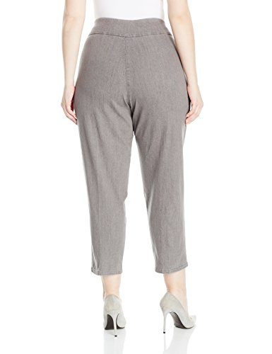 Alfred Dunner Women's Plus Size Stretch Short Pant, Grey, 18W