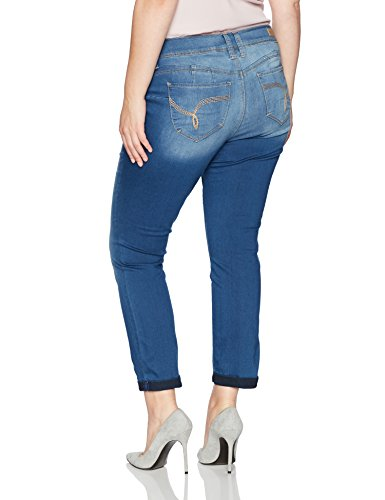 YMI Women's Plus Size Juniors Wannabettabutt Double Button Jegging, Medium, 18