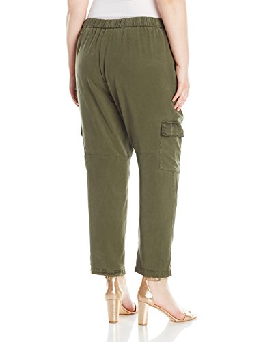 Lucky Brand Women's Plus Size Solid Cargo Pant, Dark Olive, 3X