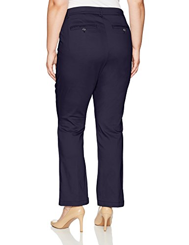 LEE Women's Plus Size Motion Series Total Freedom Pant, Rinse, 24W Medium