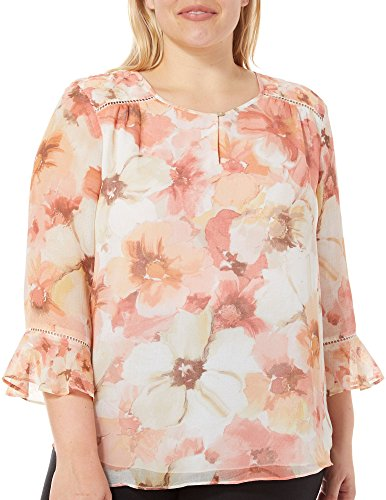 Alfred Dunner Women's Plus Size Floral Woven Top, Multi, 22W