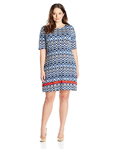 Tart Collections Women's Plus-Size Amelina Dress, African Stripe, 3X
