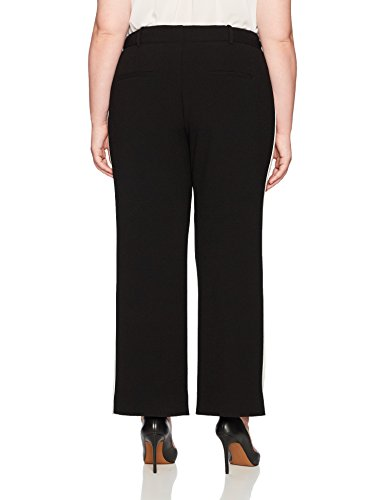 RACHEL Rachel Roy Women's Plus Size Side Stripe Pant, Black/Ivory Stripe, 18W