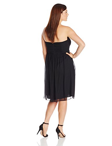 Donna Morgan Women's Plus-Size Strapless Sweetheart Chiffon Dress