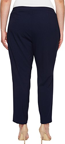 Calvin Klein Women's Plus Size Straight Pant With Buckle and Zip, Twilight, 24W
