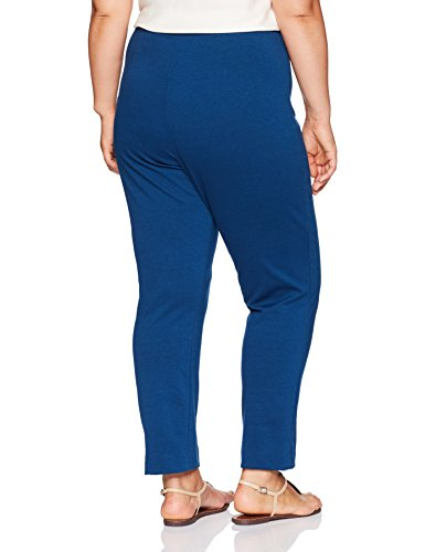 Alfred Dunner Women's Plus Size Med Ponte Knit, Lapis, 16W