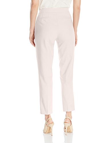 Ruby Rd. Women's Plus Size Classic Fly Front Double-Face Stretch Ankle Pant, Linen White, 20W