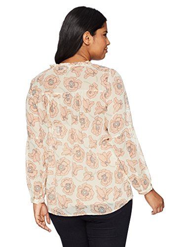 Lucky Brand Women's Plus Size Exploded Floral Top, Pink/Multi, 1X