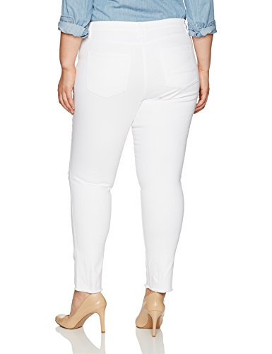 RACHEL Rachel Roy Women's Plus Size Live To Love Denim, White, 20W