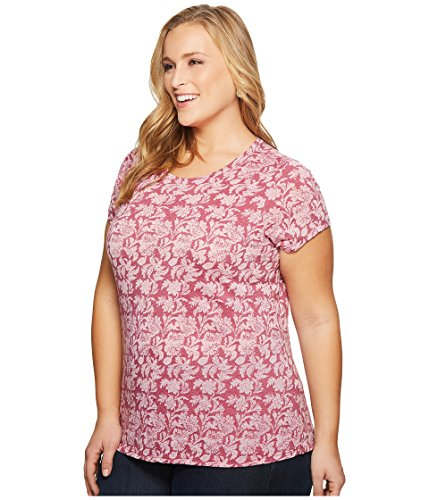 Lucky Brand Women's Plus Size Print Graphic Tee, Pink/Multi, 3X