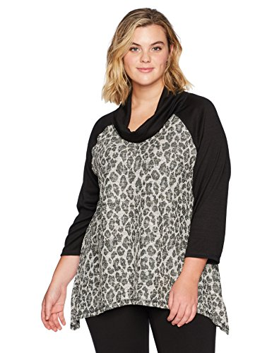 Cowl-Neck Shimmer Jacquard Spots Top